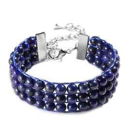 Lapis Lazuli Bracelet (Size 7 with 2 inch Extender) 140.00 Ct.