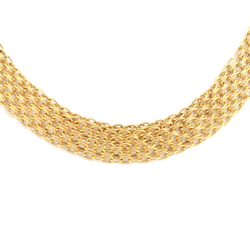 Italian Made 9K Yellow Gold Bismark Necklace (Size 17), Gold wt 9.70 Gms.