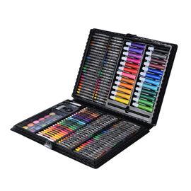 Kids Painting Kit (Including 48 Pcs Crayons, 48 Pcs Oil Pastels, 24Pcs Colour pencils, 12pcs Water c
