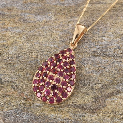 Mahenge Spinel (Rnd) Pendant With Chain in 14K Gold Overlay Sterling Silver 1.900 Ct.