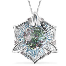 Galatea DavinChi Cut Collection - Blue Topaz, Russian Diopside, Natural Cambodian Zircon and Mozambi