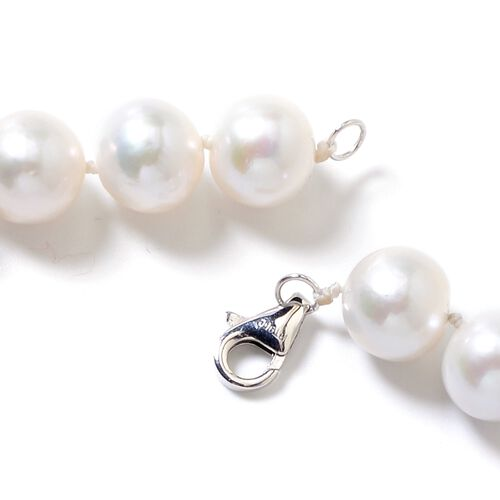 Signature Collection-RHAPSODY 950 Platinum AAAA Extremely Rare Edison Pearl Perfect Round Graduated (9  to 14 mm) Necklace (Size 20)