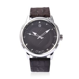STRADA Japanese Movement Water Resistance Watch in Stainless Steel - Chocolate