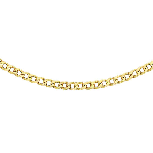 Hatton Garden Close Out Deal-  9K Yellow Gold Curb Necklace (Size 24)