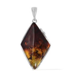 Baltic Amber (Mrq) Pendant in Sterling Silver