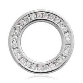 ILIANA 0.25 Carat IGI Certified Diamond Circle of Life Pendant in 18K White Gold