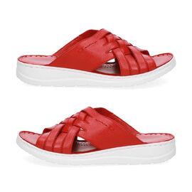 Caprice Leather Nappa Slider Sandal - Red