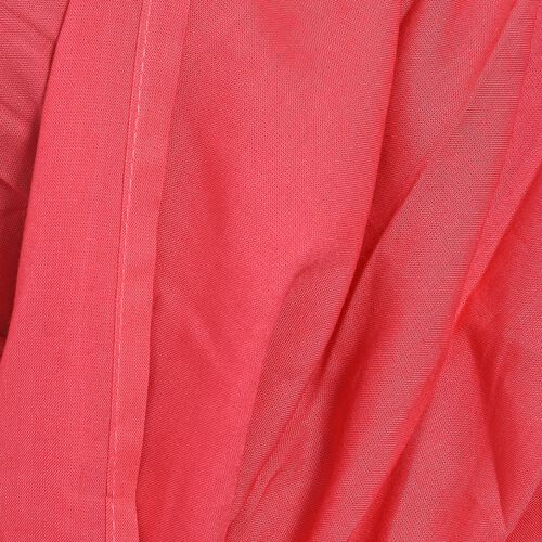 Close Out Deal-Red Colour Cross Over Wrap Drape Top (Free Size)
