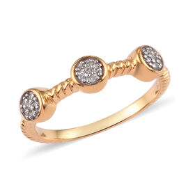 Diamond Ring in 14K Gold Overlay Sterling Silver