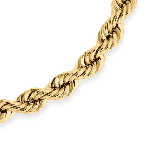 9K Yellow Gold Hollow Rope Bracelet (Size 7.5)