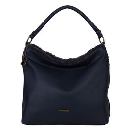 Bulaggi Collection- Jacinta Hobo Shoulder Bag (Size 34x34x14 Cm) - Dark Blue