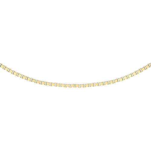 14K Yellow Gold Box Venetian Chain (Size 24)