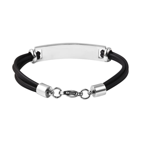 Bar Multi Strand Bracelet (Size 7) with Lobster Lock in Stainless Steel
