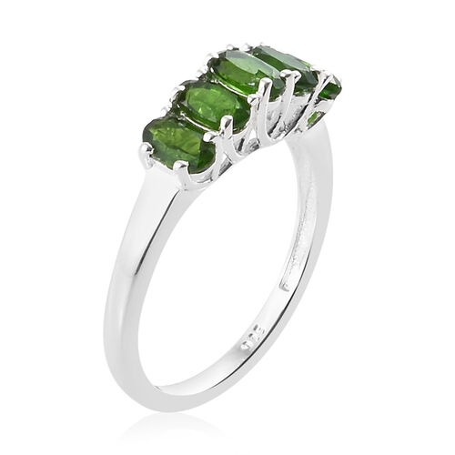 One Time Deal- Russian Diopside (Ovl) Ring in Sterling Silver 1.250 Ct.