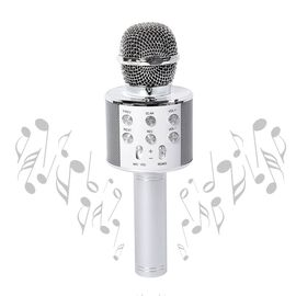 Wireless Karaoke Microphone Speaker with Bluetooth & USB Cable - White
