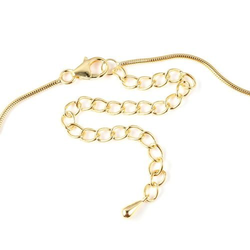 LucyQ Yellow Gold Overlay Sterling Silver Necklace (Size 16 with 4 inch Extender), Silver wt 11.68 Gms