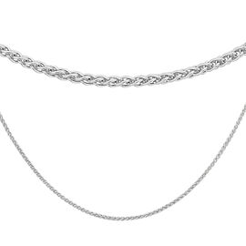 Sterling Silver Spiga Chain (Size 22), Silver wt 3.30 Gms
