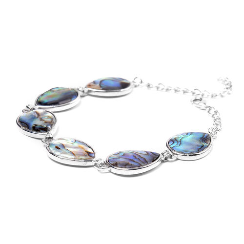 Abalone Shell Bracelet (Size 7 with 2 inch Extender) - Pear