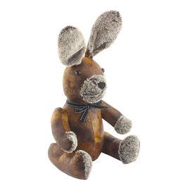 Lesser & Pavey Faux Leather Rabbit Doorstop in Brown (30 X 20 CM)