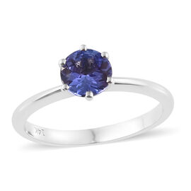 14K White Gold AA Tanzanite (Rnd) Solitaire Ring 0.850 Ct.