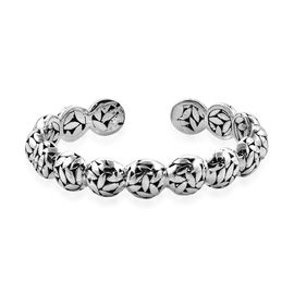 Royal Bali 6.25 Inch Cuff Bangle in Sterling Silver 27 Grams