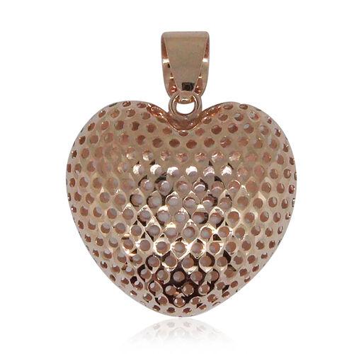 Surabaya Gold Collection 9K Rose Gold Heart Pendant