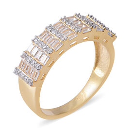 ELANZA Simulated Diamond (Oct) Ring in Yellow Gold Overlay Sterling Silver