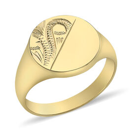 Hatton Garden Close Out 9K Yellow Gold Signet Ring, Gold Wt. 4.78 Gms
