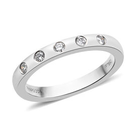 RHAPSODY 950 Platinum IGI CERTIFIED Diamond (VS / E-F) Band Ring,Platinum wt. 5.21 Gms