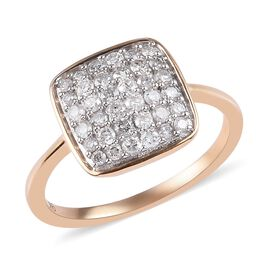 9K Yellow Gold SGL Certified Diamond (I3/G-H) Ring 0.5 Ct.
