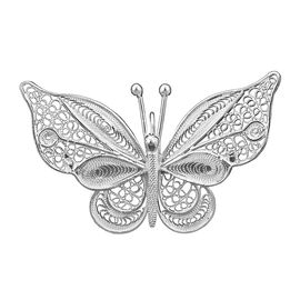Royal Bali Filigree Butterfly Brooch in Silver 6.23 grams