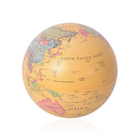 Revolving Globe with LED Light - Yellow (1x AA  Battery Needed)