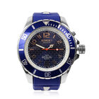 KYBOE Japanese Movement 100M Water Resistant Silver Sea LED Watch in Stainless Steel with Blue Strap