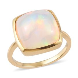 14K Yellow Gold AA Ethiopian Welo Opal Ring 5.00 Ct