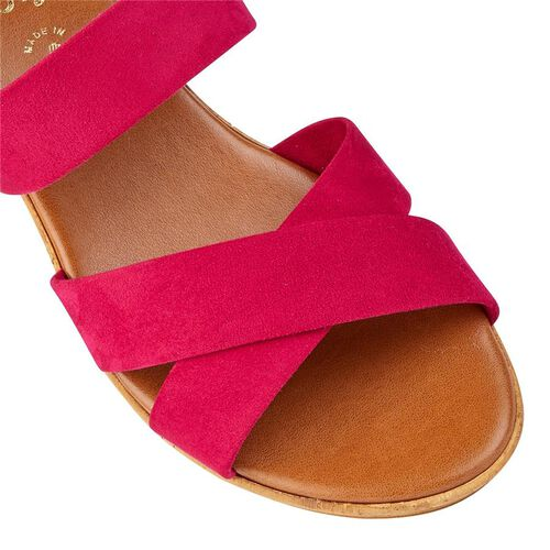 Lotus Angelica Wedge Sandals (Size 4) - Fuchsia