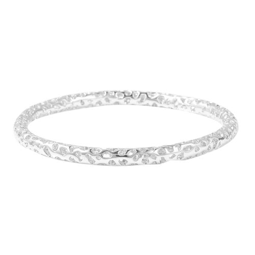 RACHEL GALLEY Allegro Bangle in Rhodium Plated Sterling Silver 8.25 Inch