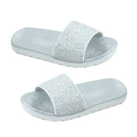 DOD - Thomas Calvi Slider Flip Flops in Silver Colour