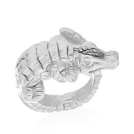 Viale Argento Sterling Silver Crocodile Ring
