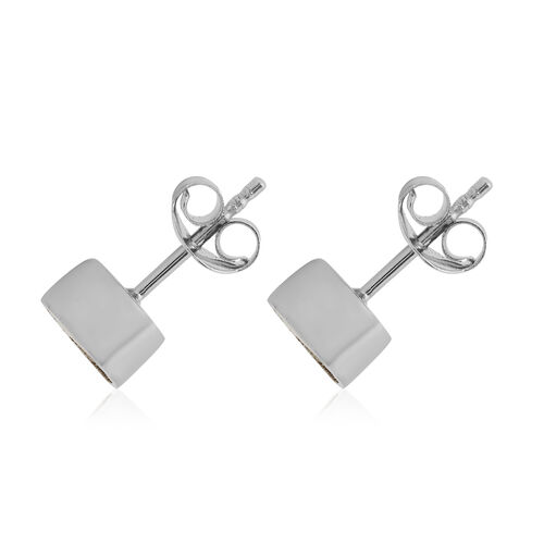 Close Out Deal Polki Diamond Stud Earrings (with Push Back) in Platinum Overlay Sterling Silver 0.50 Ct.