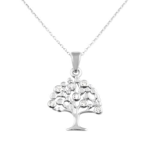 Italian Made-Sterling Silver Tree Pendant