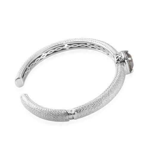 J Francis - Crystal from Swarovski Bronze Shade Crystal (Cush) Bangle (Size 7.5) in Platinum Plated