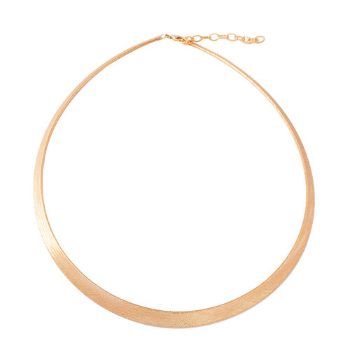 SUPER AUCTION - JCK Vegas Collection - ILIANA 18K Yellow Gold Graduated Omega Necklace (Size 17 with