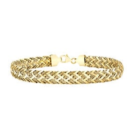 One Time Close Out Deal- 9K Yellow Gold Woven Bracelet (Size 7.25) Gold wt. 3.70 Gms