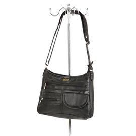 CloseOut Deal - 100% Genuine Leather Hand and Shoulder Bag (Size 24x30x8cm) with Zip