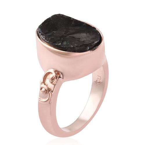 Elite Shungite Magnetic Ring in Rose Gold Tone 2.00 Ct