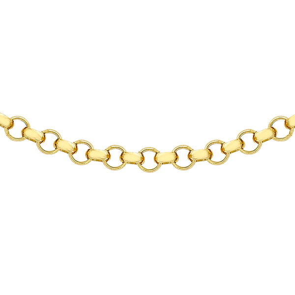 Hatton Garden Close Out- 9K Yellow Gold Belcher Necklace with Lobster Clasp (Size - 20), Gold Wt.3.6