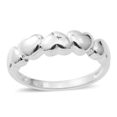 Designer Inspired - Sterling Silver Heart Ring, Silver wt 3.9 Gms.