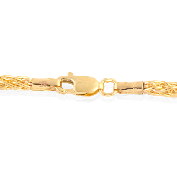 Close Out Deal 9K Yellow Gold Spiga Necklace (Size 20), Gold wt 7.20 Gms.