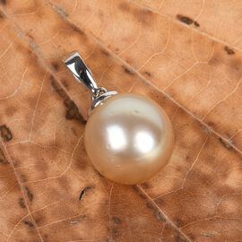 9K White Gold White South Sea Pearl Pendant