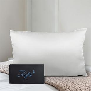100% Mulberry Silk Top Layer Single Pillowcase (Size:50x75cm) - Ivory